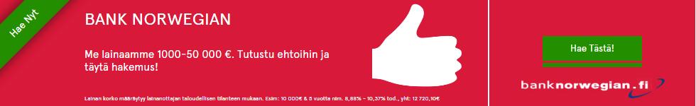 Bank Norwegian vakuudeton kulutusluotto