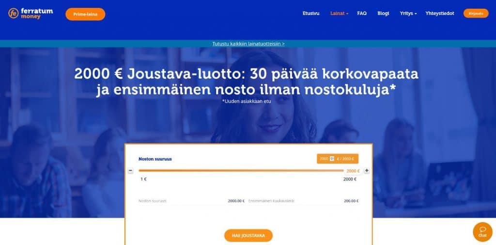 Ferratum.fi kotisivu