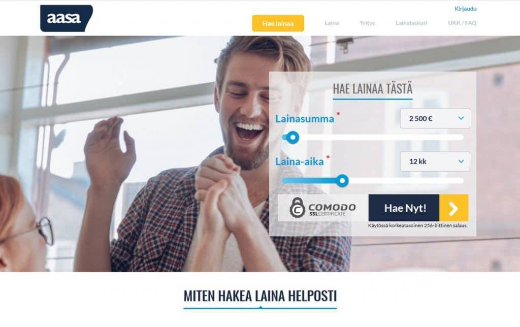 Aasa.fi kotisivu
