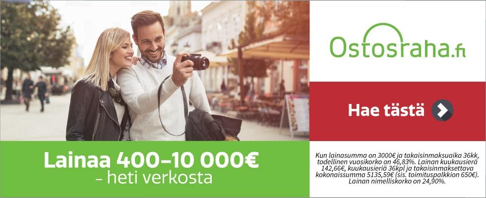 Ostosraha kulutusluottoa 400 - 10 000 €