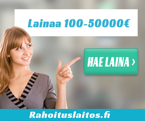 Rahoituslaitos lainaa 100 - 50 000€
