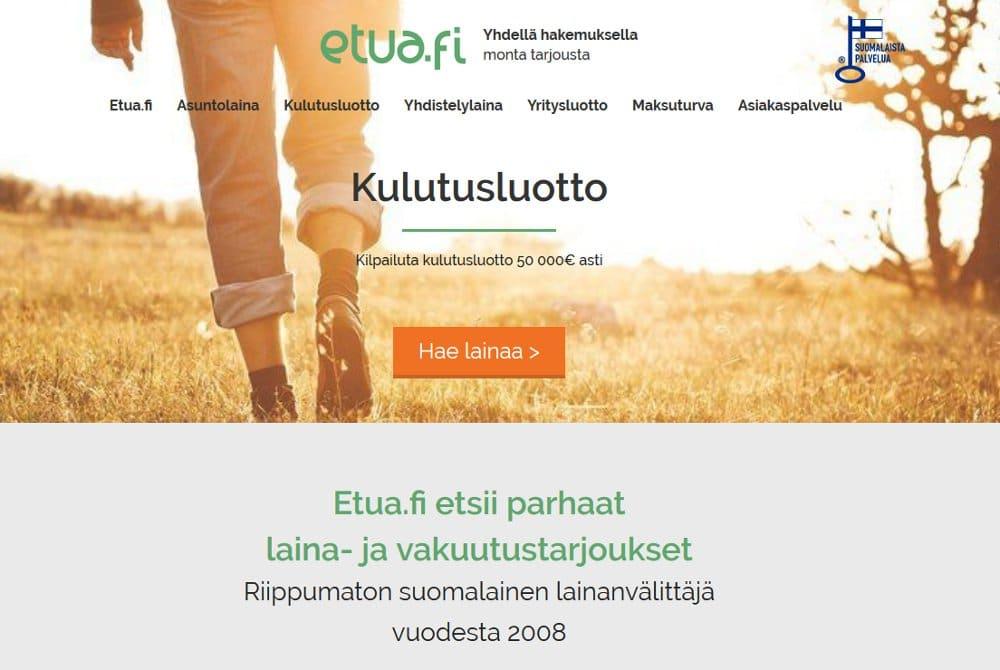 Etua.fi kotisivu
