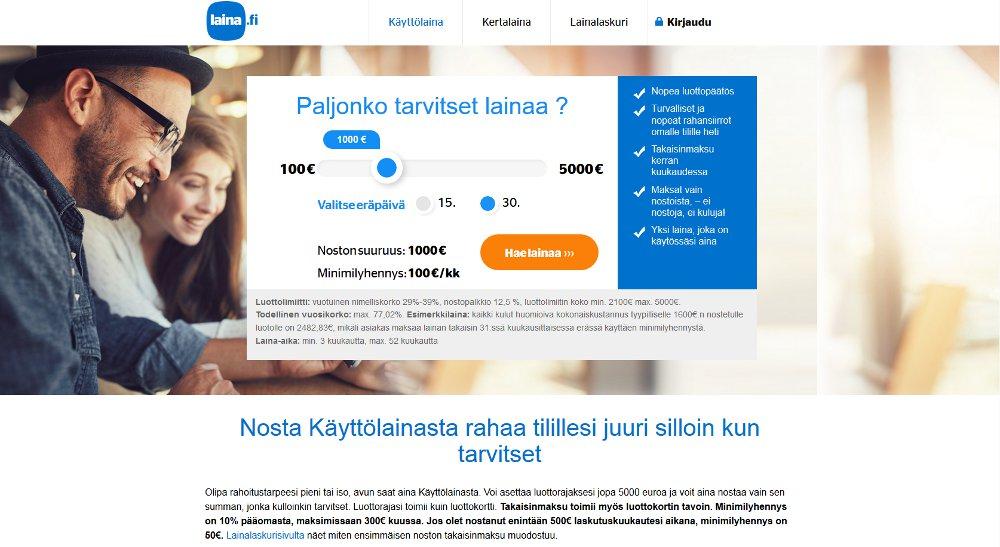 Laina.fi kotisivu