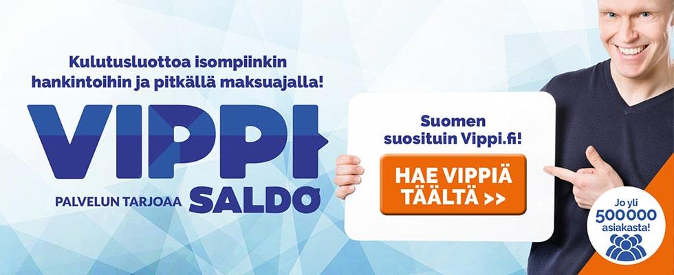 Hae Vippi.fi kulutusluottoa