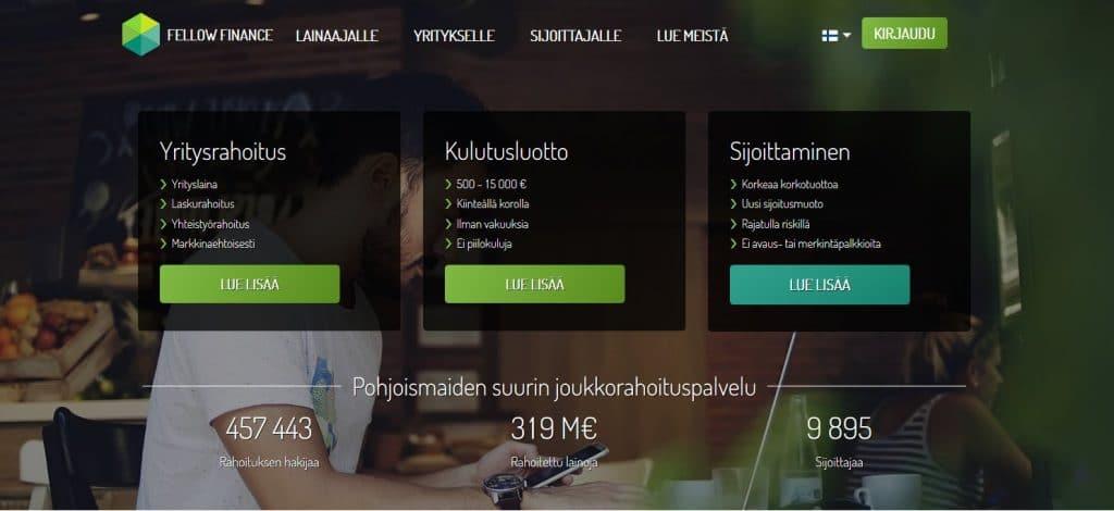 Fellowfinance.fi kotisivu