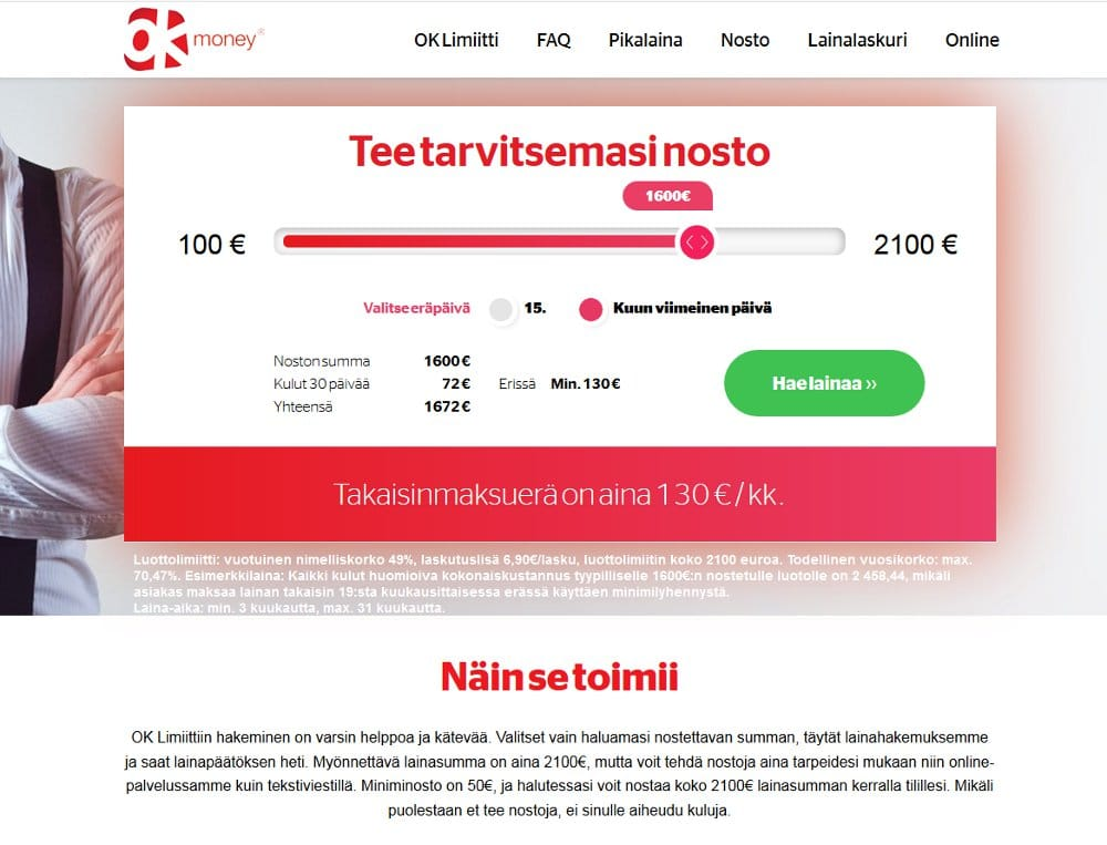 OKMoney.fi kotisivu