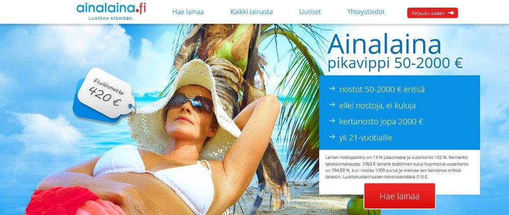 Ainalaina.fi kotisivu