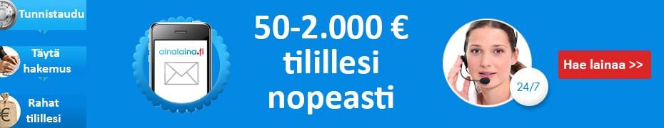 Ainalaina.fi tarjoaa tililuottoa