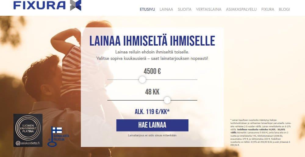 Fixura.fi kotisivu