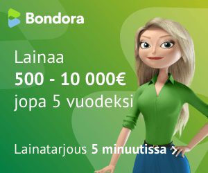 Bondora lainaa sinulle 500 - 10 000€ jopa 5 vuodeksi